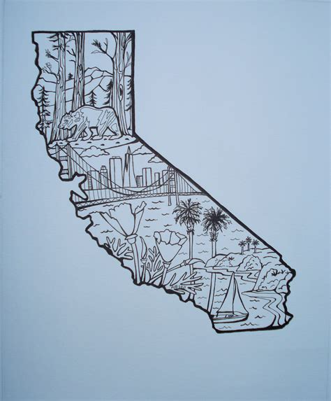 california state outline with