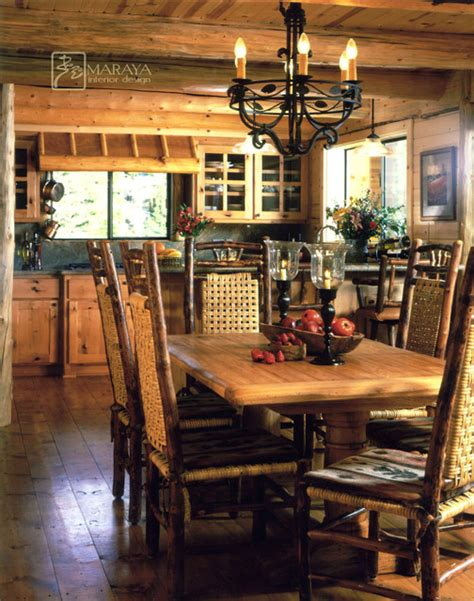 log cabin kitchen rustic dining room other metro