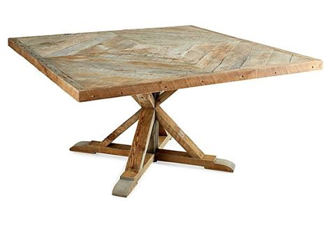 reclaimed wood square dining table june 2014 la marca designs