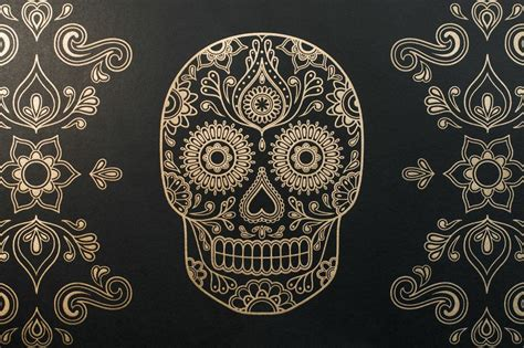 day of the dead background macabre wall day of the dead skull wallpaper eat