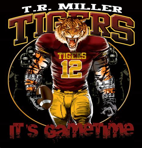 tigers game time football tshirt tee color creek