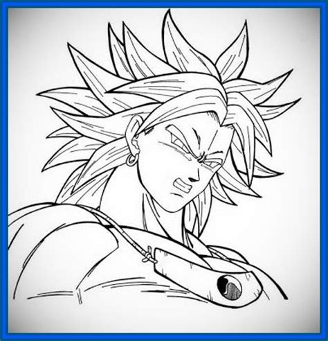 dibujos de dragon ball fotos ideas para colorear ellahoy 100 ideas dibujos de goku broly on ezcoloringa download