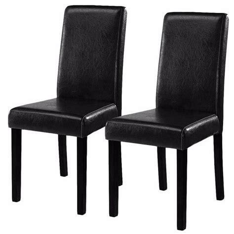 Affordable Variety Leather Contemporary Dining Chairs Set Contemporary Black Dining Chairs