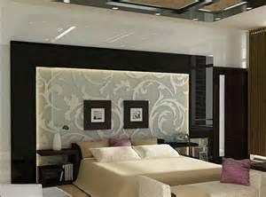 bedroom wall panel design ideas: art nouveau style bedroom with silk back paneling over etched glass