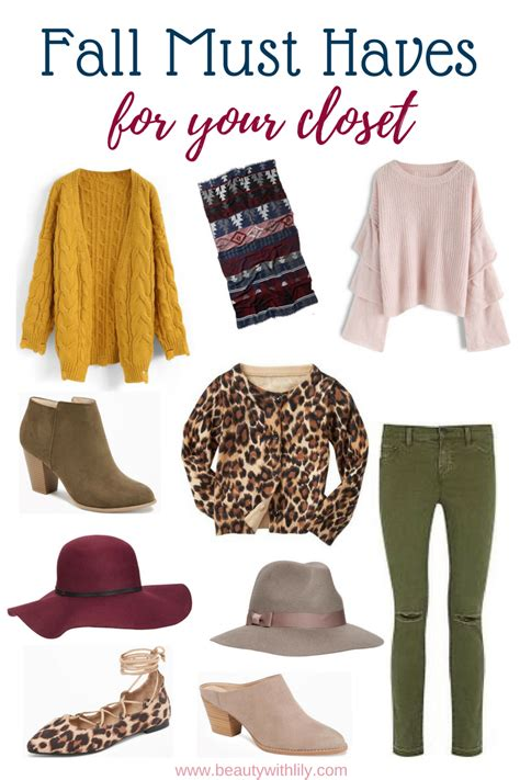 Must Haves In Your Closet by Affordable Fall Must Haves Home Fashion