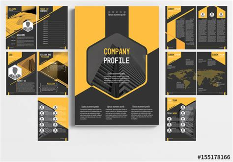 multi page booklet template multi page brochure layout with gray and orange accents 1