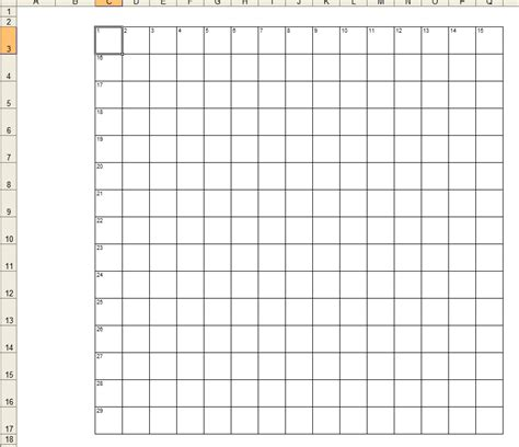 crossword template daily dose  excel
