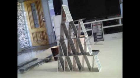 how to make a card tower how to build a card tower pictures only