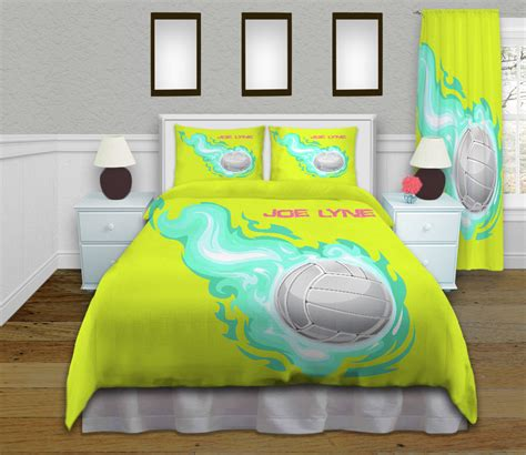 volleyball comforter kid sports bedding by eloquentinnovations