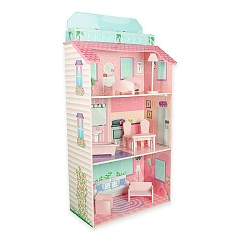 folding dolls house teamson kids glamour mansion folding doll house buybuy baby