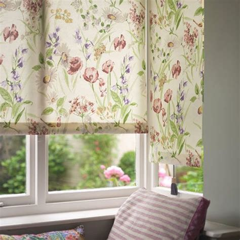 cottage curtains and blinds cottage garden roller blind gardens window treatments