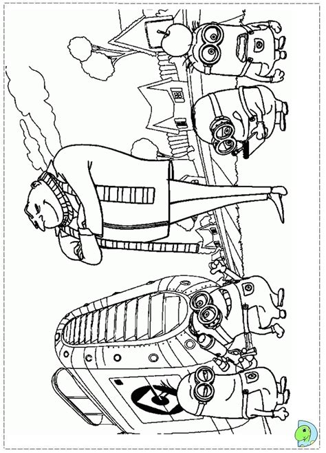 despicable me 2 coloring page dinokids org