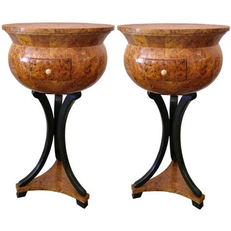 Pair Of Brutalist Nightstands End Tables For Furniture From The 1960s Sold Collection Pair Of 19th C Biedermeir Nightstands Or End Tables At 1stdibs
