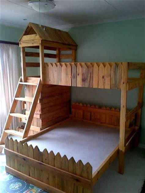 pallet loft bed pallet bunk bed projects pallet wood projects