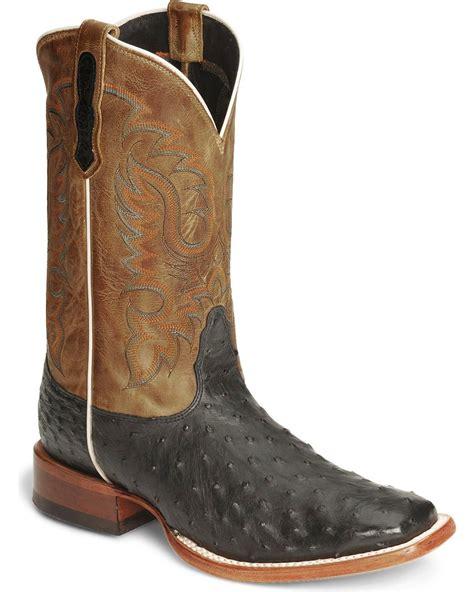 square toe mens boots nocona s quill ostrich boots square toe