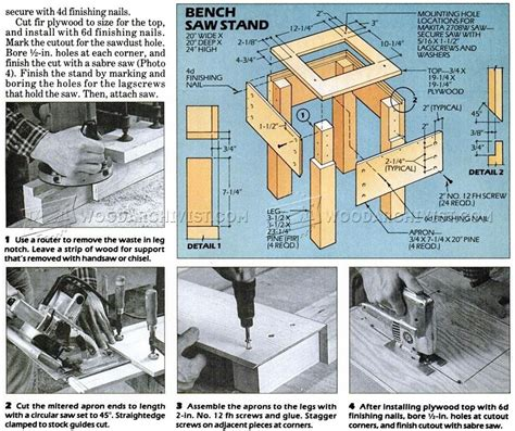 Bench Top Router Tool Stand Plan Woodarchivist