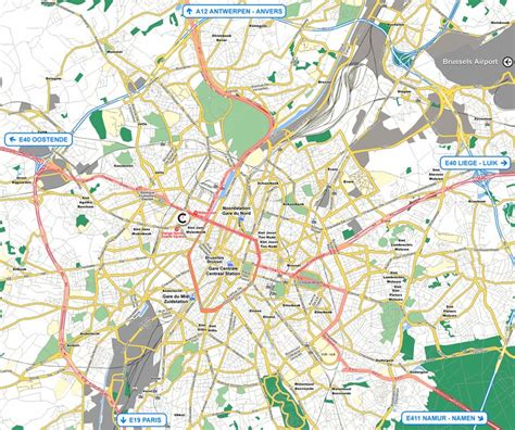 transport map brussels x