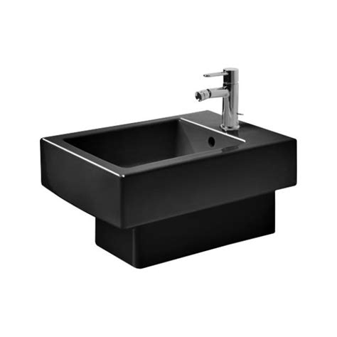 Duravit Bidet by Duravit 223915 Vero Wall Mounted Bidet Black Wondergliss