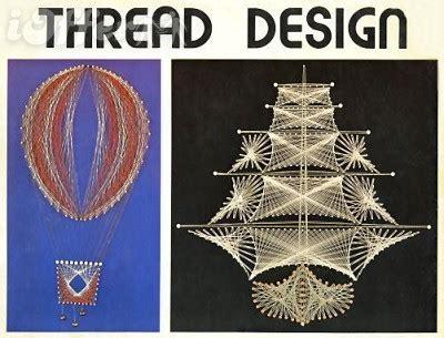 string art pattern book 1976 thread design string art craft book vintage 1974 hp 418