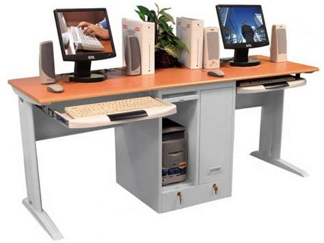 13 Best Two Person Desk Images On Pinterest Home Office Corner Desk For Two Computers