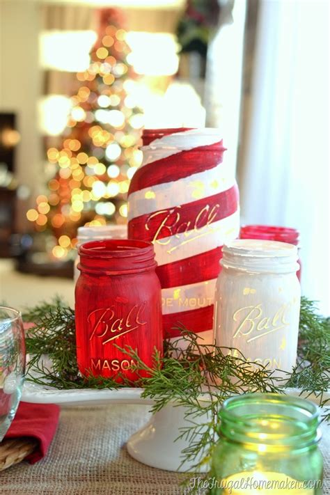 painted decorations chalky painted jars and tablescape