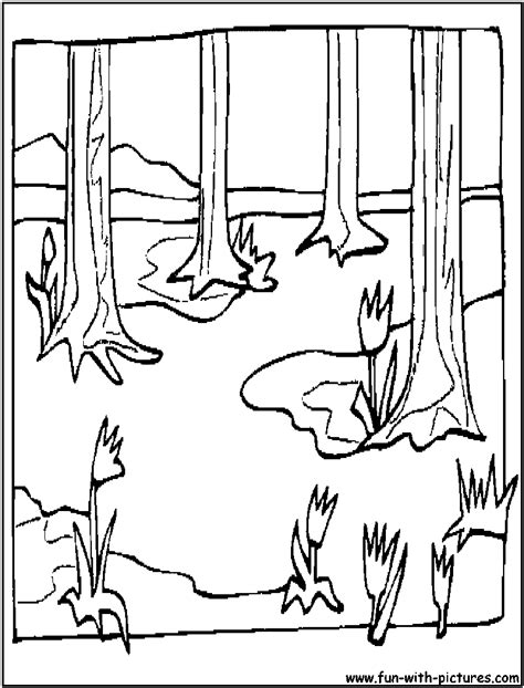 spring landscape coloring page how to draw spring landscape