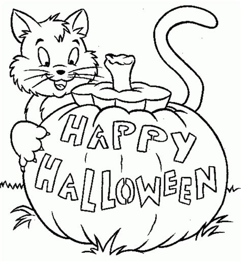 easy coloring pages for halloween coloring pages simple halloween coloring pages download