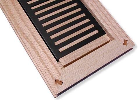 Rickenbacker style flush mount louvered wood heat registers