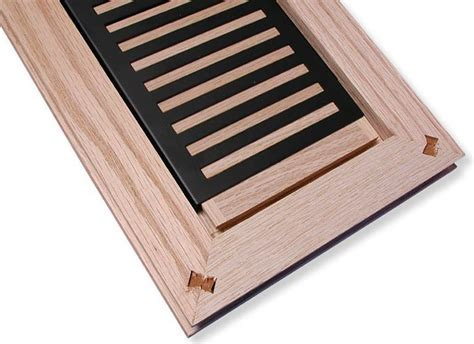 Rickenbacker style flush mount louvered wood heat registers
