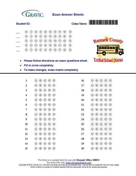 quiz answer sheets download 30 question test answer sheet 183 remark software