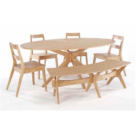 malmo 190cm oval dining table with 4 chairs and bench