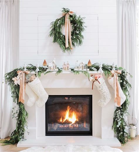 how to decorate a fireplace for christmas 36 ways to decorate the christmas fireplace mantel hello lovely