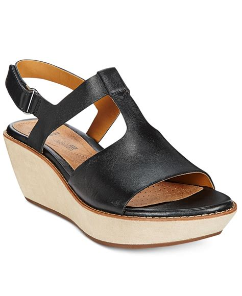 clarks wedge sandal clarks collection s hazelle wedge sandals in
