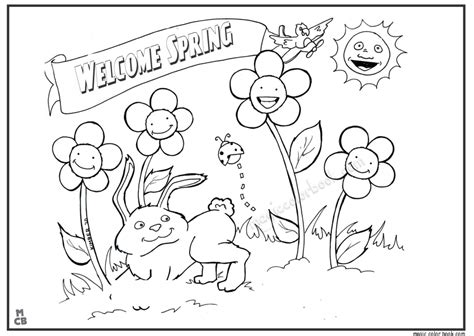 coloring pages spring season coloring home