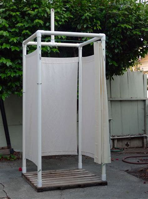 rv outdoor shower enclosure 11 pvc diy cing projects you ll want for this summer