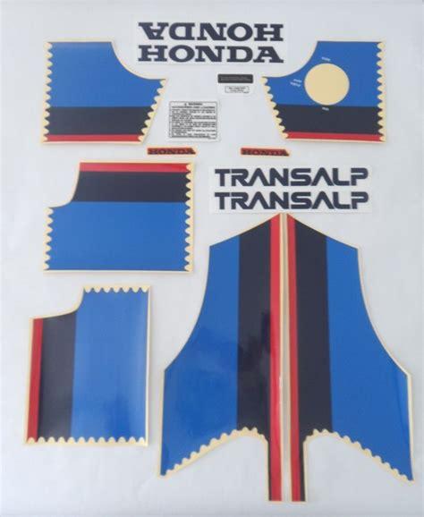 Honda Transalp 650 Aufkleber by Honda Transalp 600 Xlv 600 Xl600v 1989 Kit Full Decals