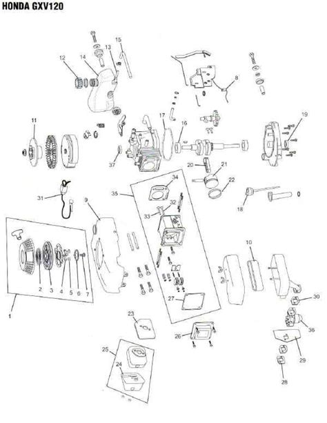 honda small engine illustrated service manual by cycle soft issuu honda gxv120 engine parts diagram lawnmower pros