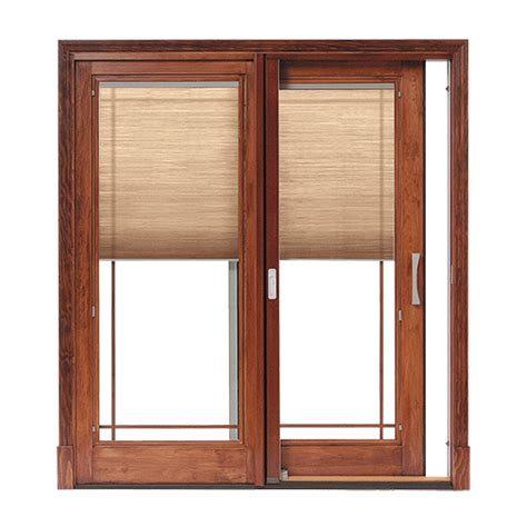 wooden patio door blinds designer series sliding patio doors with built in blinds
