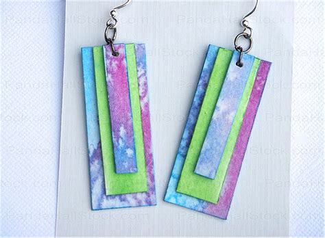 How To Make Earrings Out Of Paper - how to make paper jewelry earrings nbeads