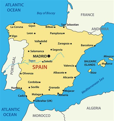 map of spain and regions regions