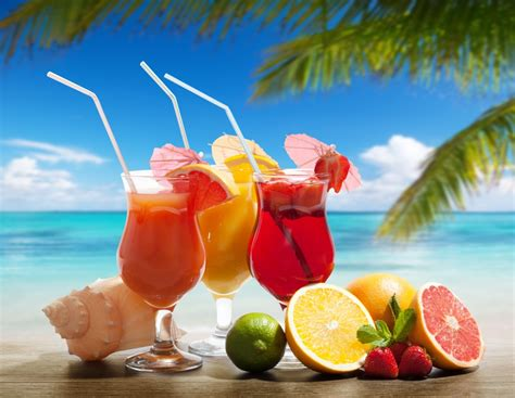cocktail drinks on the beach cocktails on the beach jigsaw puzzle in fruits veggies