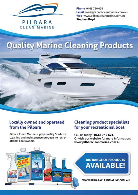 boat detailing business insurance bold conservative business flyer design for pilbara