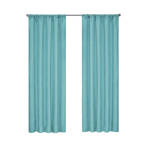 Aqua Blackout Curtains Eclipse Kendall Blackout Turquoise Curtain Panel 84 In Length 10707042x084tuq The Home Depot