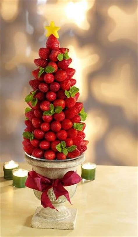 christmas dessert strawberry christmas tree centerpiece