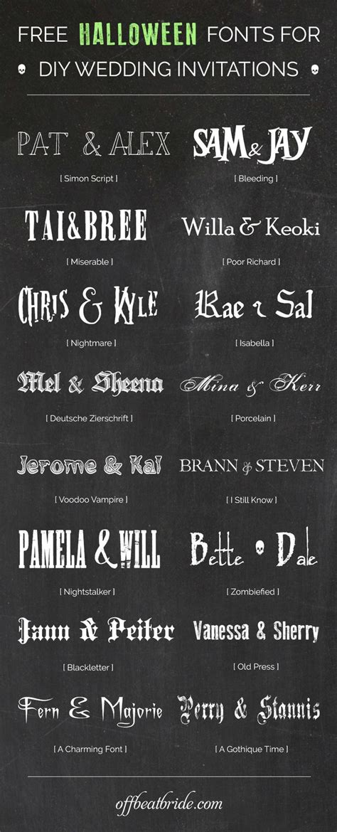 a dark wedding font best 25 halloween wedding invitations ideas on pinterest