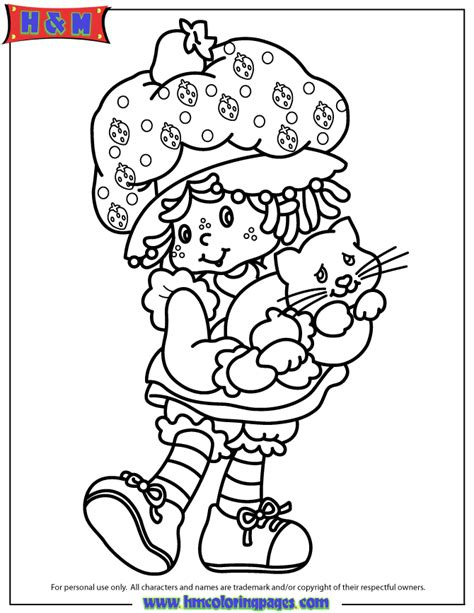 vintage strawberry shortcake coloring pages coloring home