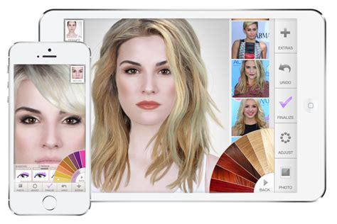 hairstyles modiface app try out countless hair and make up simulations and current