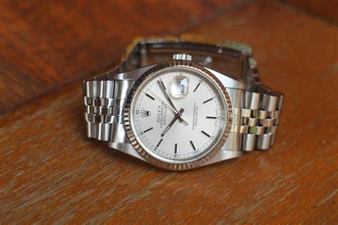 Jam Tangan Rolex Datejust Automatic Silver Gold Cover Gold jam tangan for sale rolex datejust ref 16234 silver index
