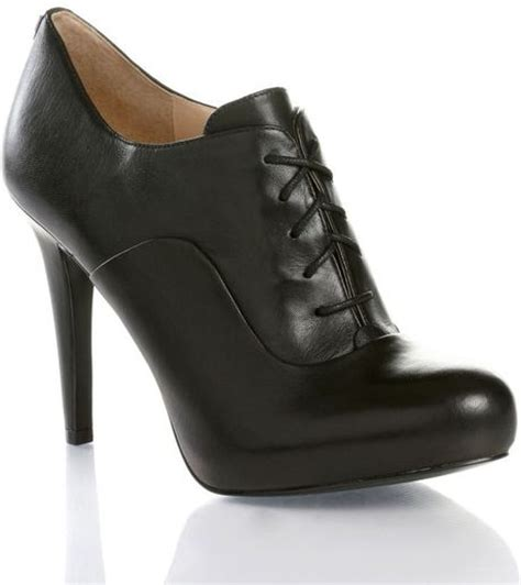 high heeled oxford shoes guess high heel oxford shoes in black lyst
