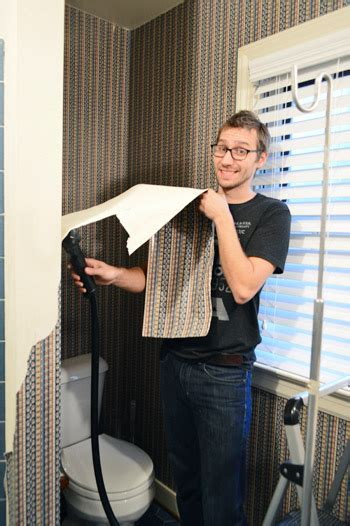 stripping in bathroom young house love bathroom plans how to strip wallpaper